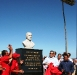 Tarek inauguró plaza Silvio Rodríguez de bulevar en Lechería