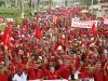 Multitudinaria marcha en apoyo a la revolución en Puerto La Cruz