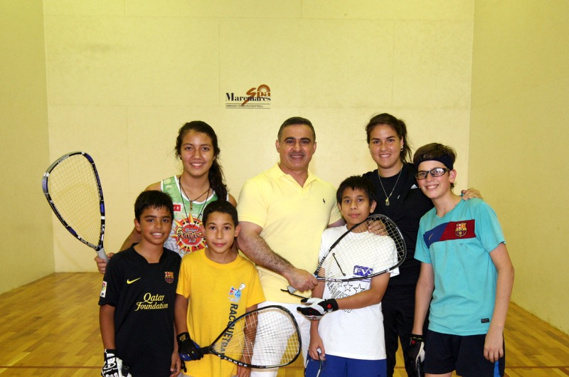 Tarek inspeccionó trabajos de mejoras en cancha de Racquetball