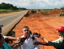 Tarek inspecciona ampliación y mejoras viales de Troncal 16 tramo La Madama-El Tigre