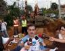 Gobernador Tarek inspeccionó trabajos de construcción de colectores en Nueva Barcelona