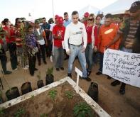 """Tarek inaugura proyecto de Cultivos Organopónicos """"Carmen Rosa García"""" en El Tigre"""
