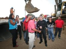 Gobernación avanza en construcción de drenajes y mejoras en El Viñedo