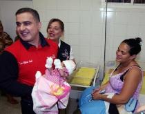 Tarek inauguró Centro Materno Infantil