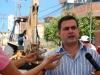 Tarek supervisa trabajos de colector caído en Barcelona