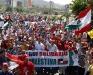 Tarek encabeza marcha de solidaridad al pueblo Palestino