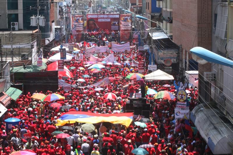 Chavistas cierran hoy campaña en masiva concentración de calle Sucre de Puerto La Cruz