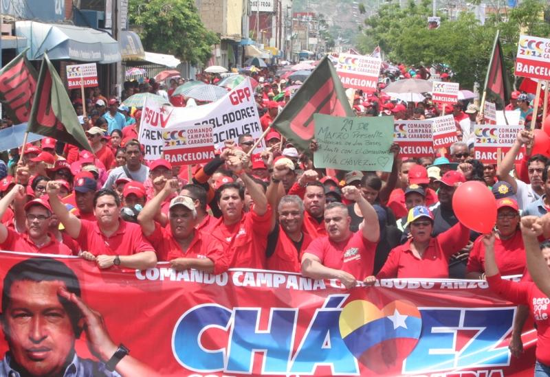 """Tarek: """"Más de 5 mil personas marcharon a favor de Hugo Chávez en Los Tronconales"""""""
