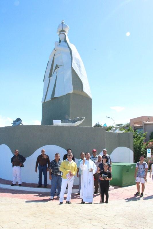 Gobernador Tarek inauguró monumento a la Virgen del Valle
