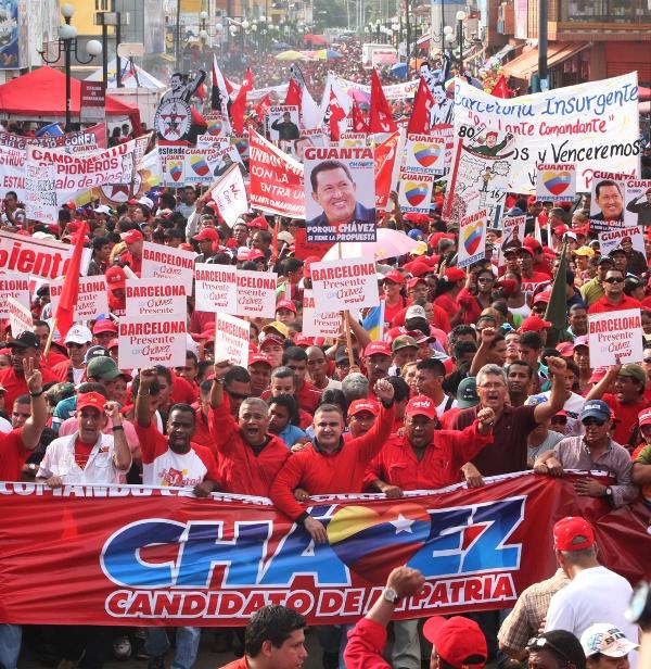 Chavismo marcha en contra del Paquetazo Neoliberal
