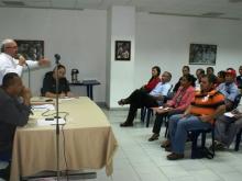 Este miércoles se desarrolló la primera reunión de Profesionales y Técnicos Socialistas del Estado Anzoátegui, dirigida por el Abogado Hugo Argotti, Vocero estadal del Frente, quien planteó las primeras acciones a seguir en defensa de la Revolución Bolivariana y en alianza nacional.