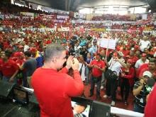 Trabajadores de Anzoátegui demuestran su apoyo contundente a reelección de Chávez