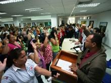 Educadores Públicos juraron impulsar conciencia revolucionaria rumbo al 7 de octubre