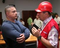Tarek y ministro Navarro reconocieron labor para recuperar subestación Barbacoa I