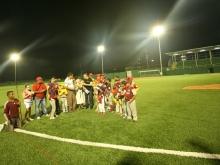 "Tarek inauguró estadio de beisbol ""Toquita Mejías"""