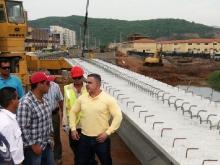 Tarek inspeccionó Puente Américo Silva