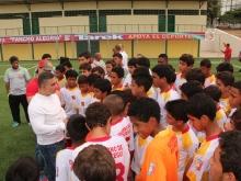 """Tarek inauguró campo  de fútbol  """"Pancho Alegría"""""""