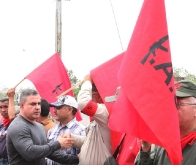 "Gobernador Tarek rindió homenaje a restos del ""Comandante Guerrillero Américo Silva"""