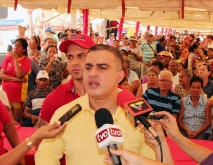 Tarek rindió balance de afectación por crecida del rio Amana en municipio Freites