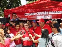 Tarek acompañó a militancia en instalación de puntos rojos del Comando de Campaña Carabobo