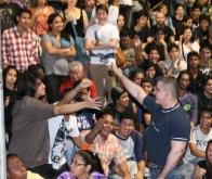 Tarek compartió con juventud de Anzoátegui en Gran Concierto de Rock en el Parque