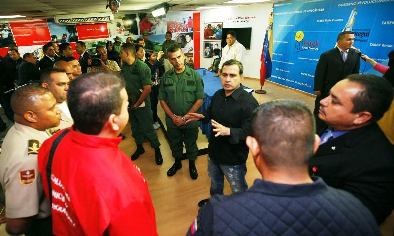 """Tarek rindió reconocimiento a policías y militares que desmantelaron banda """"Los Sanguinarios"""""""