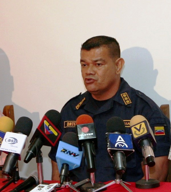 El Comandante de la Policía del estado Anzoátegui comisario Manuel Ortiz