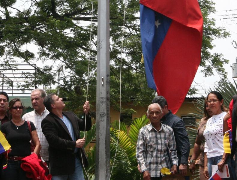 Anzoátegui conmemoró el Bicentenario del Primer Izamiento de la Bandera Nacional