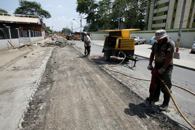 Covinea repara colector caído en la Guzmán Lander